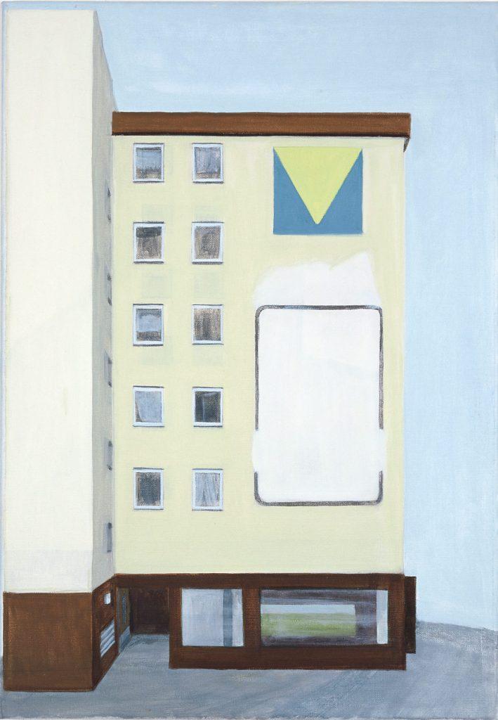 Petra Trenkel: Wand II, 2003, Öl auf Nessel, 65 ×45 cm